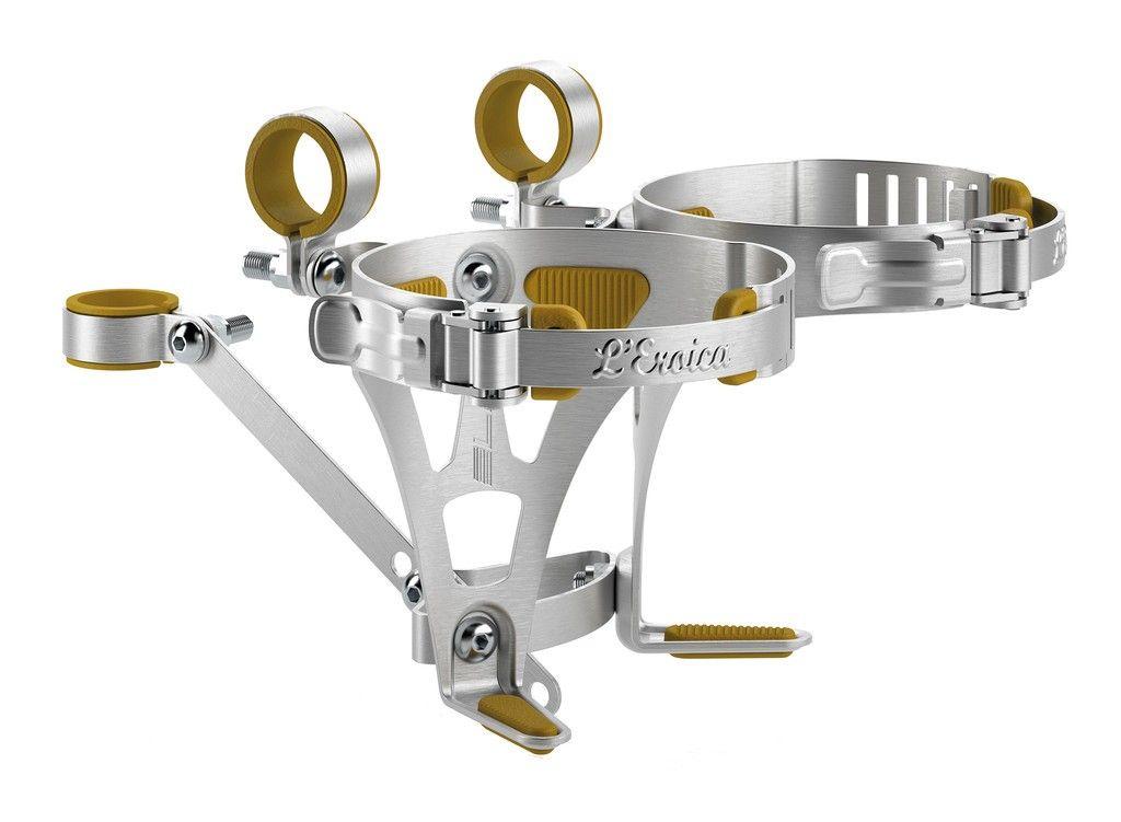 Porte-bidon Elite L'Eroica pour 2 bidons Aluminium