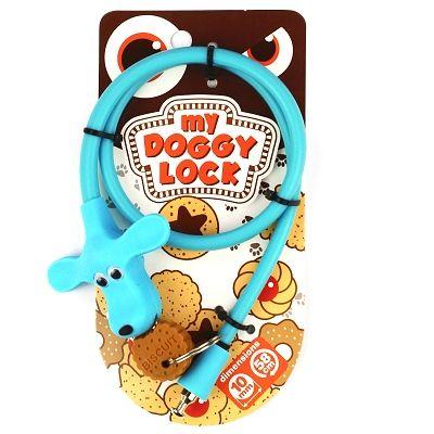 Antivol My Doggy Lock à clé 580 x 10 mm Bleu