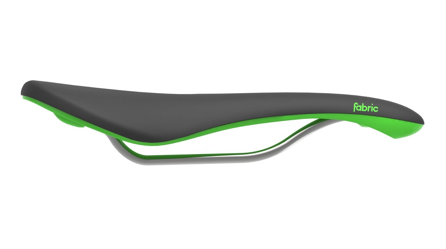 Selle Fabric Scoop Shallow Elite Noir/Vert