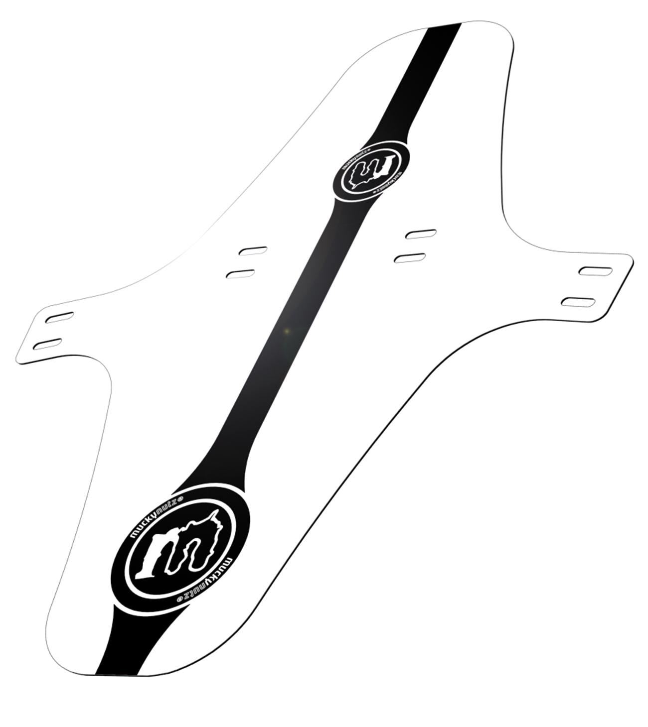 Garde-boue avant Mucky Nutz Face Fender XL Blanc/Noir