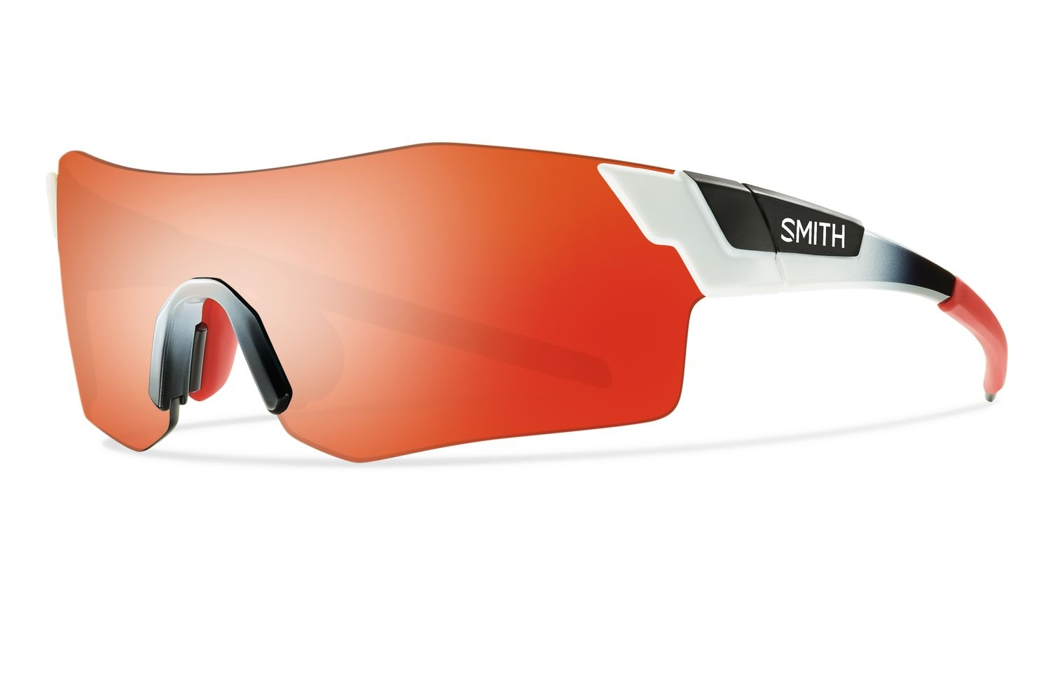 Lunettes Smith Optics PivLock Arena Blanc Rouge Fade Rouge Sol-X