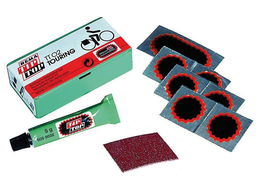 Nécessaire réparation Tip-Top TT02 (boîte 7 rustines + tube dissolution)