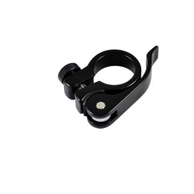 Collier de tige de selle ATOO BMX Alu à serrage rapide 25,4 mm Noir