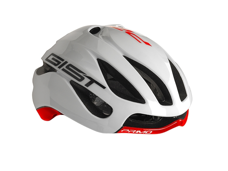Casque Vélo GIST Primo Blanc/Rouge - 52-57 cm