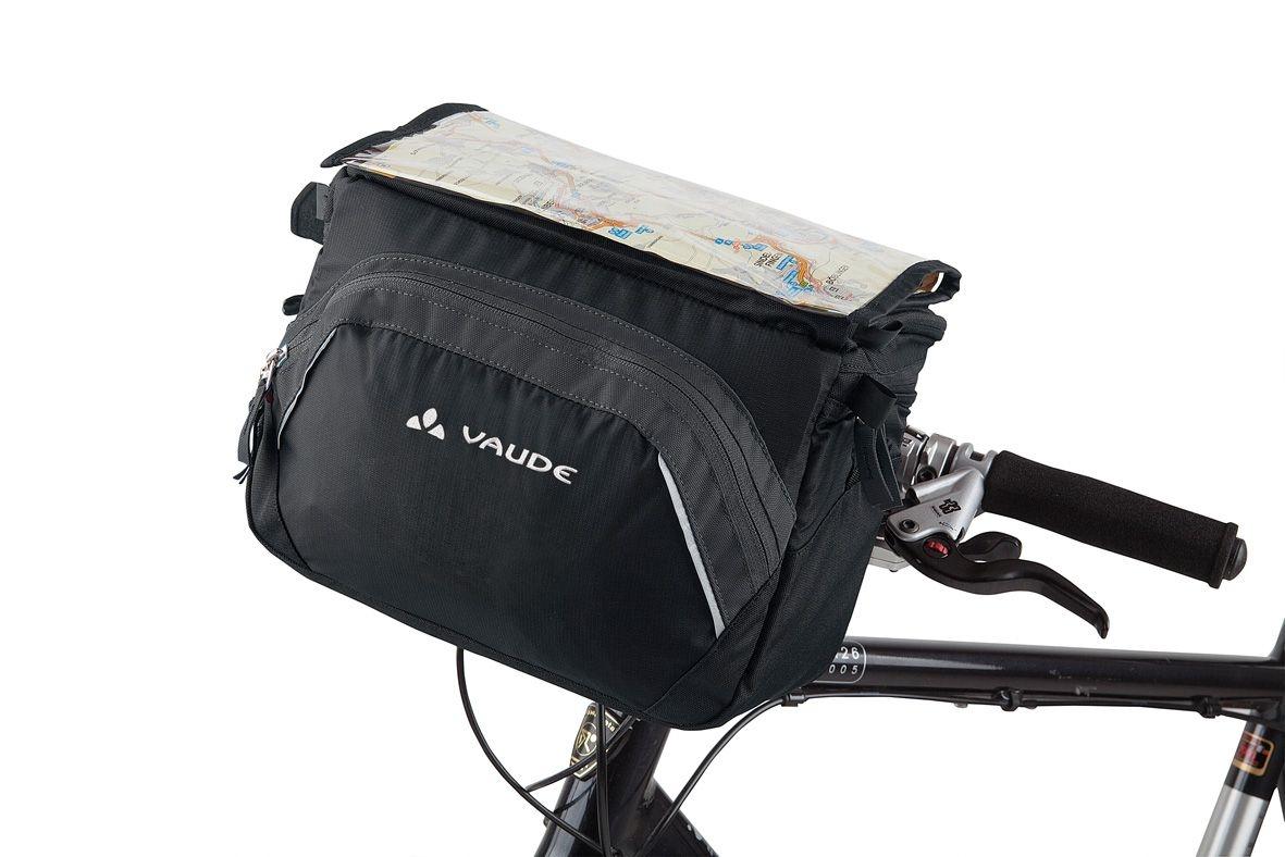 Sacoche de guidon Vaude Road II 9 L + support KLICKfix Noir/Anthracite