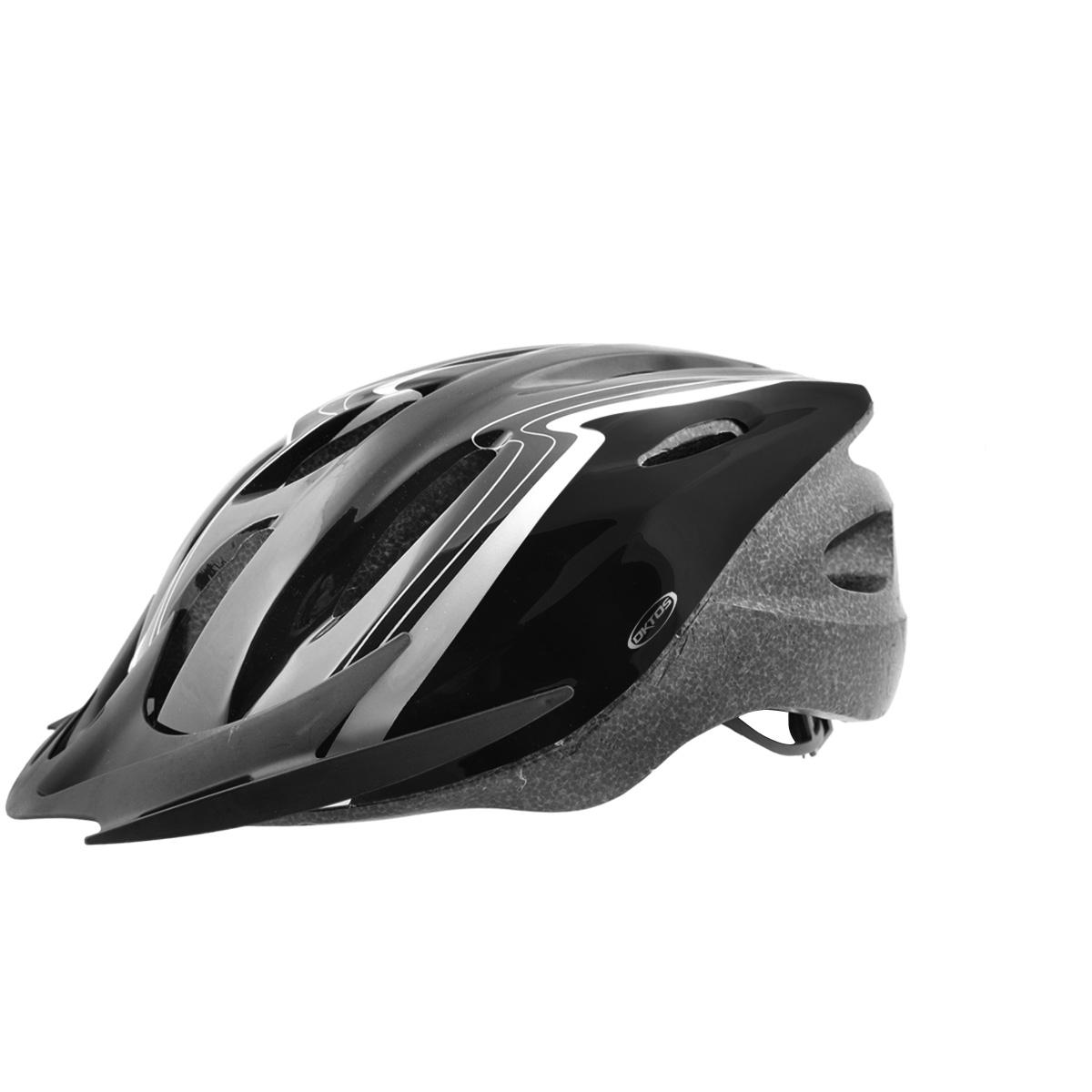 Casque vélo Oktos VTT/VTC Noir - 58/61