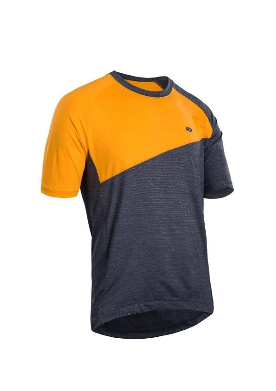 Maillot Sugoi Trail Jersey Noir/Orange Marigold - XL