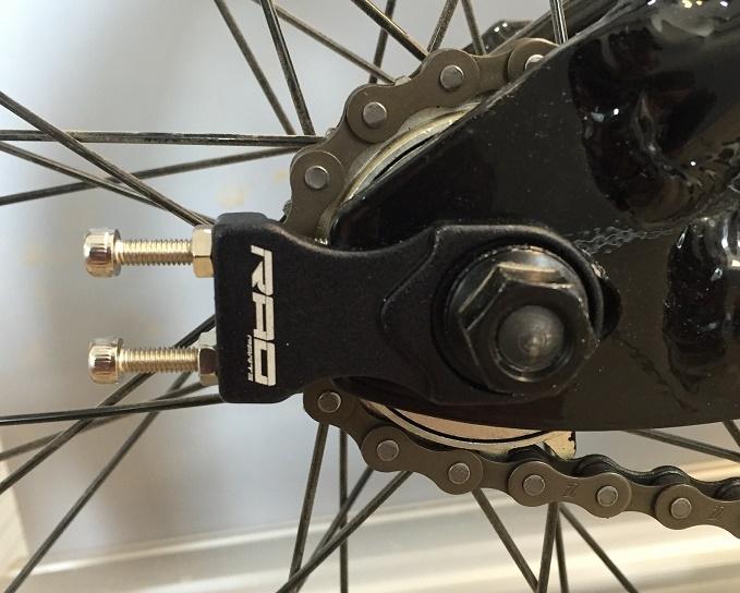 Tendeurs de chaîne Rad Parts alu 10 mm Noir