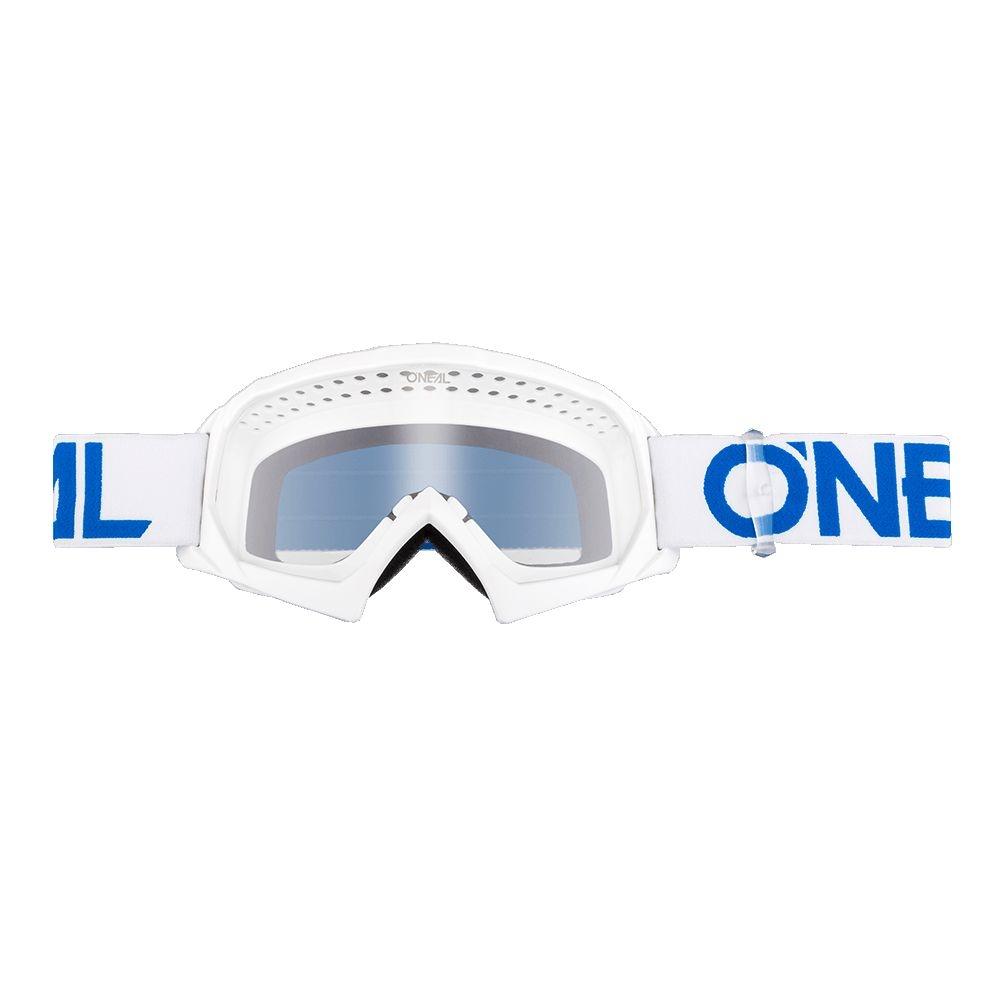 Masque O'Neal B10 Solid Enfant Blanc/Bleu