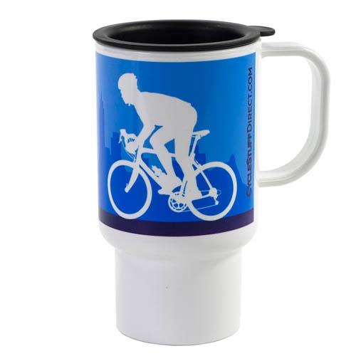Mug de voyage Road Design 312ml Bleu