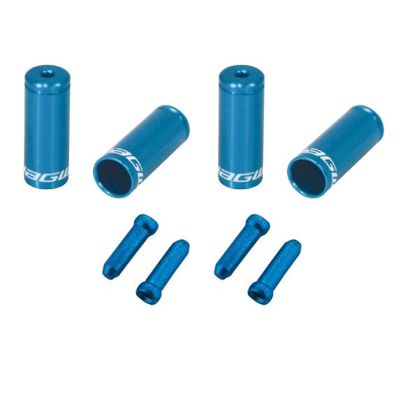 Pack arrêts de gaines et embouts Jagwire Universal Pro - Bleu