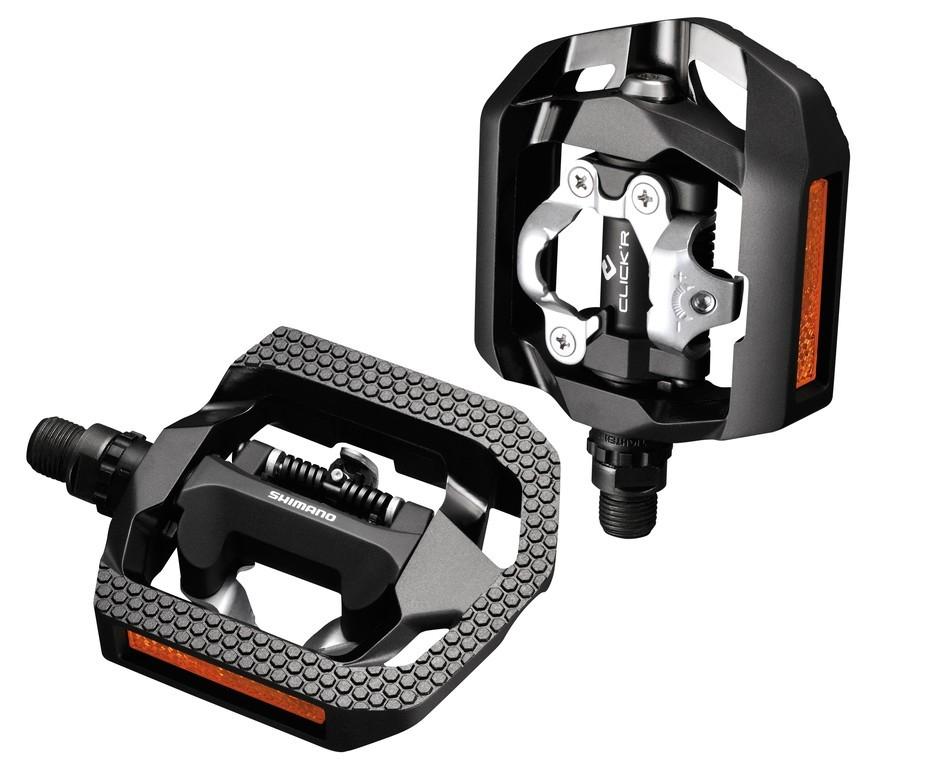 Pédales mixtes SPD Shimano Click`R PD-T 420 noir