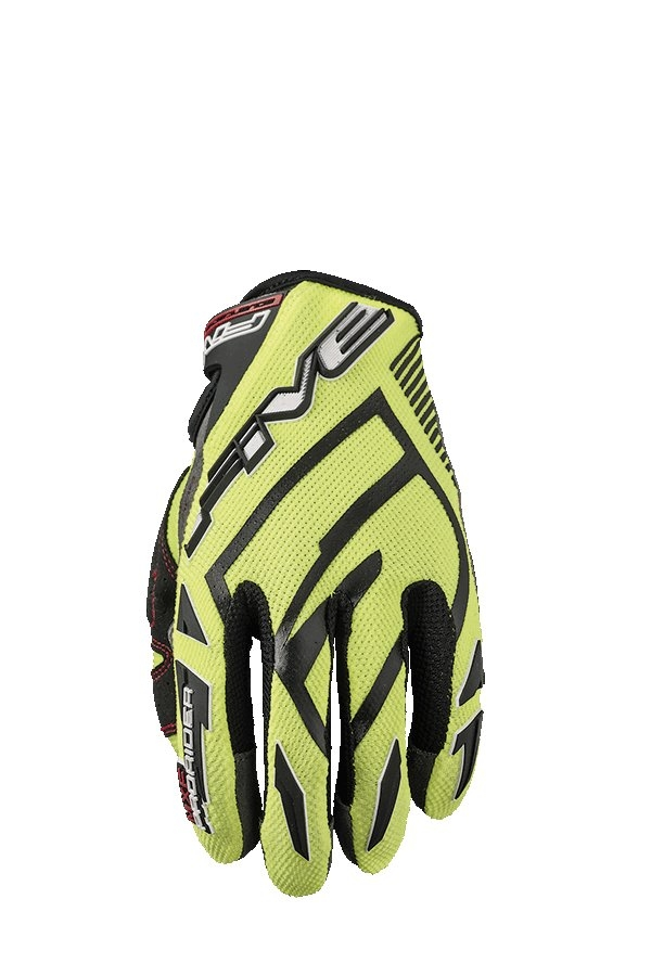 Gants cross Five MXF PRORIDER S jaune fluo - M