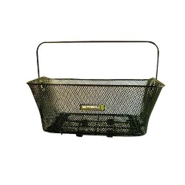 Panier arrière BASIL métallique fixation porte-bagages Noir