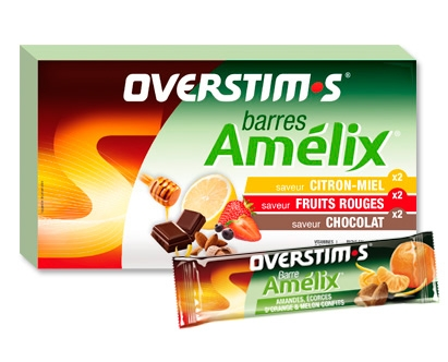 Barres énergétiques Amélix Overstims (6 Barres)