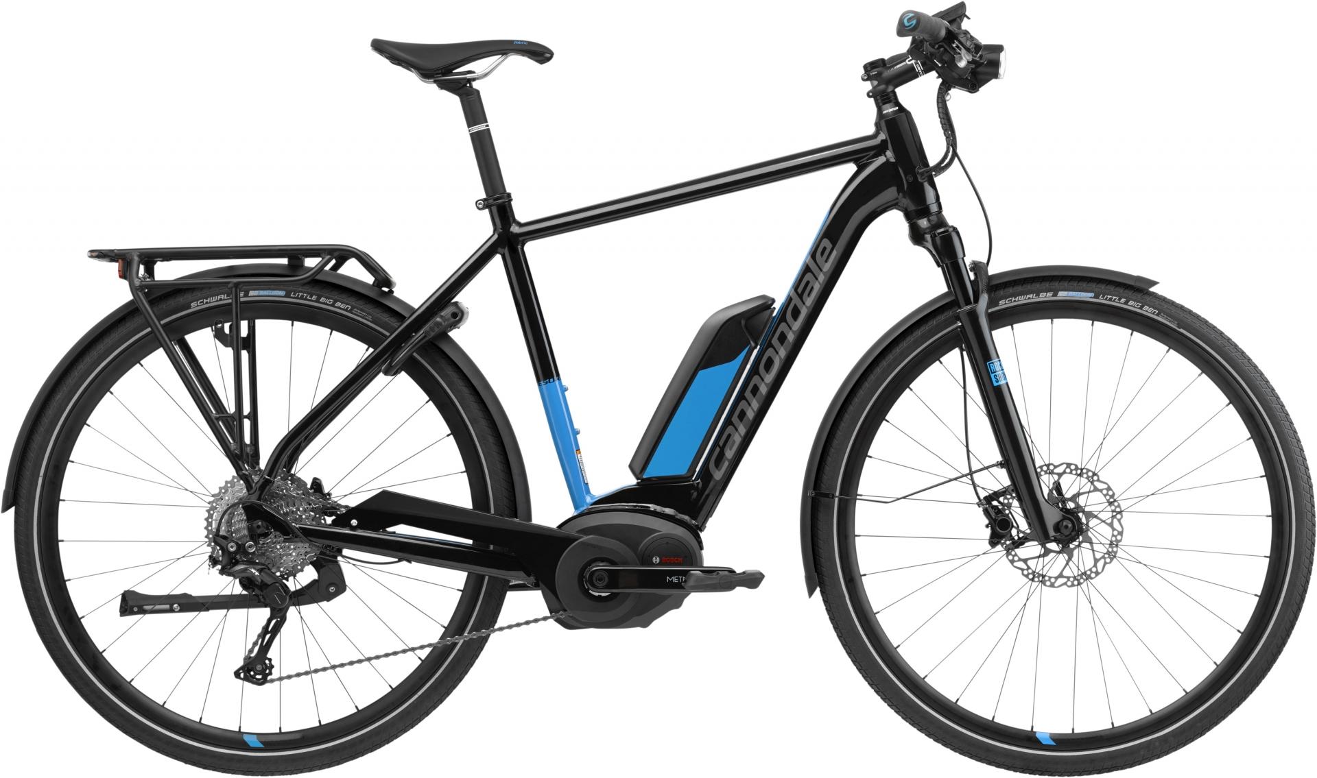 VTC électrique Cannondale Tesoro Neo 1 Noir/Bleu - 56
