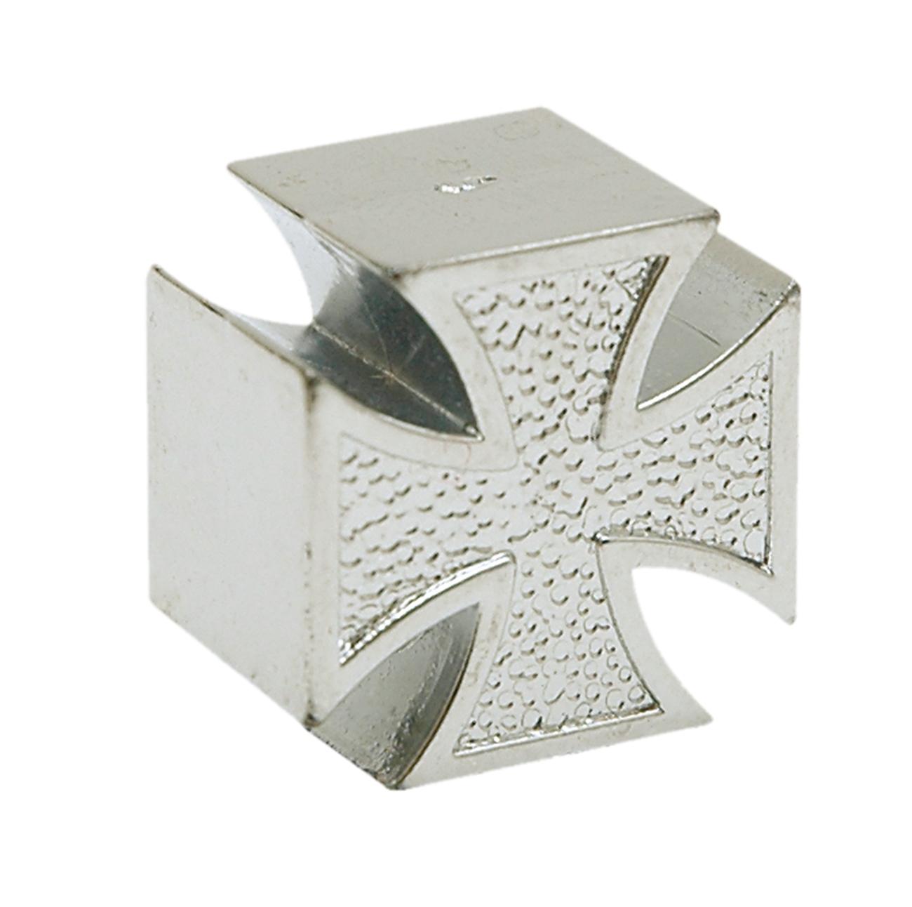 Bouchon de valve TrickTopz Croix Fer Chromée (x2)