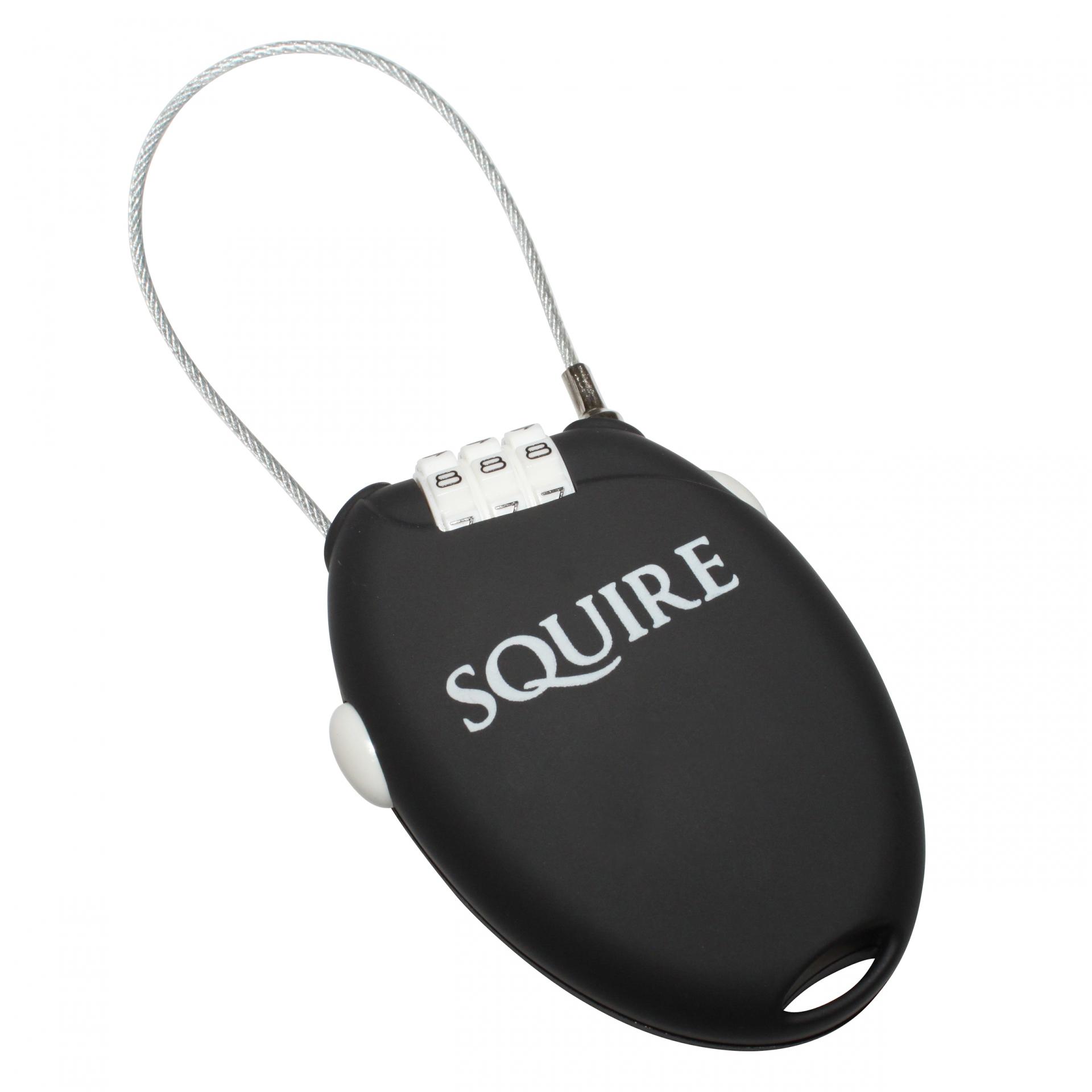 Antivol vélo Squire Retrac 2 câble rétractable à code 600 mm Noir