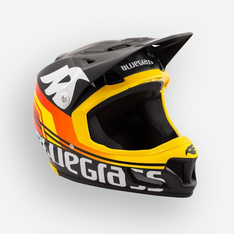 Casque Bluegrass Brave Noir/Orange/Jaune Mat - 56-58