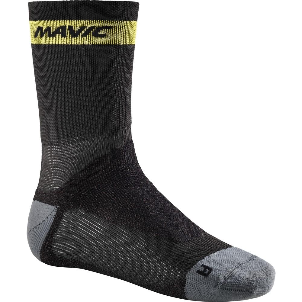 Chaussettes Mavic Ksyrium Pro Thermo+ Sock Noir/Dark Cloud - 35-38