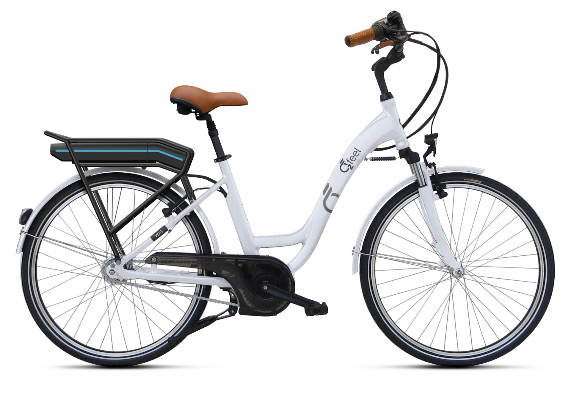 Vélo électrique O2Feel Vog N7 Origin 26 374 Wh Blanc