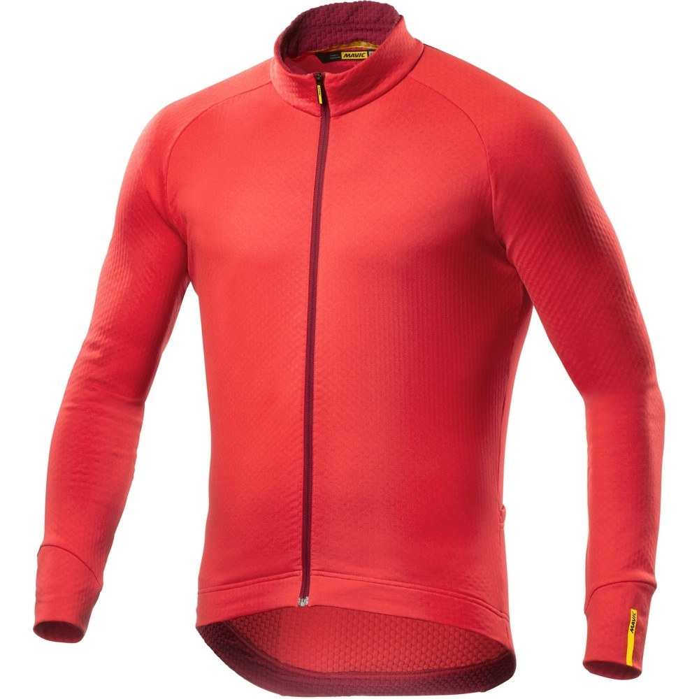 Maillot Mavic manches longues Aksium Thermo Rouge Racing - M