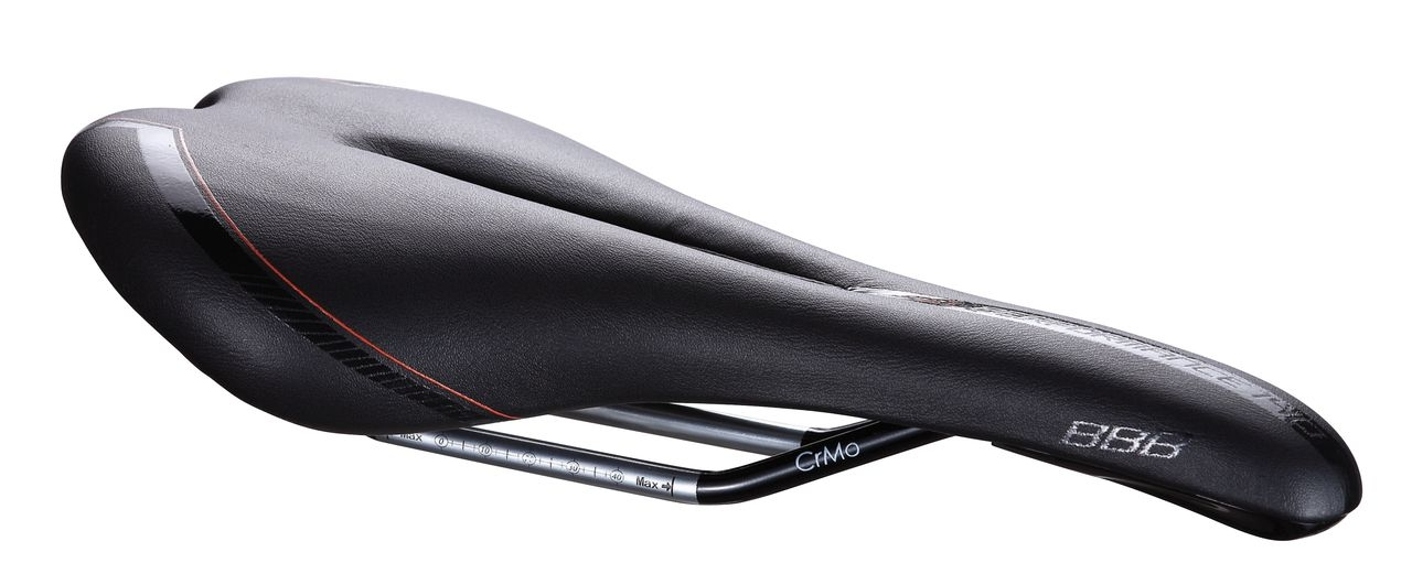 Selle Gel anatomic BBB Razer CrMo 140 mm (noir) - BSD-62GW