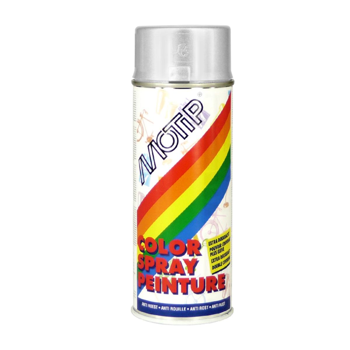 Bombe de peinture MoTip argent brillant 400 ml M01615