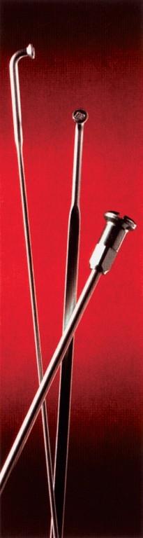 Rayon M 2x182 mm en zinc Argent