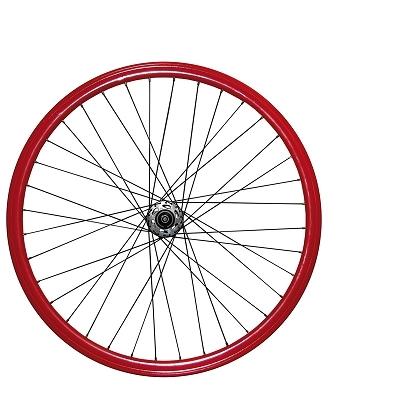 Roues fixie 700c double parois 43 mm (paire) Rouge