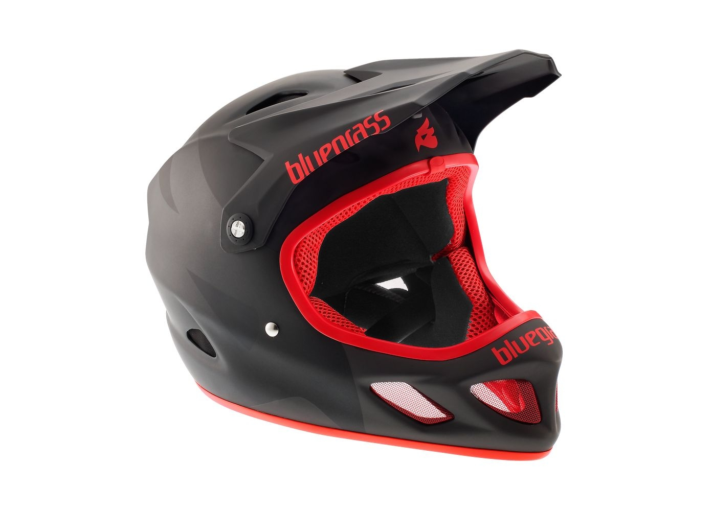 Casque Bluegrass Explicit noir mat/rouge - XS 52-54