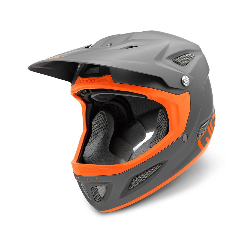 Casque Giro DISCIPLE MIPS Titane mat/Orange - M / 57-59 cm