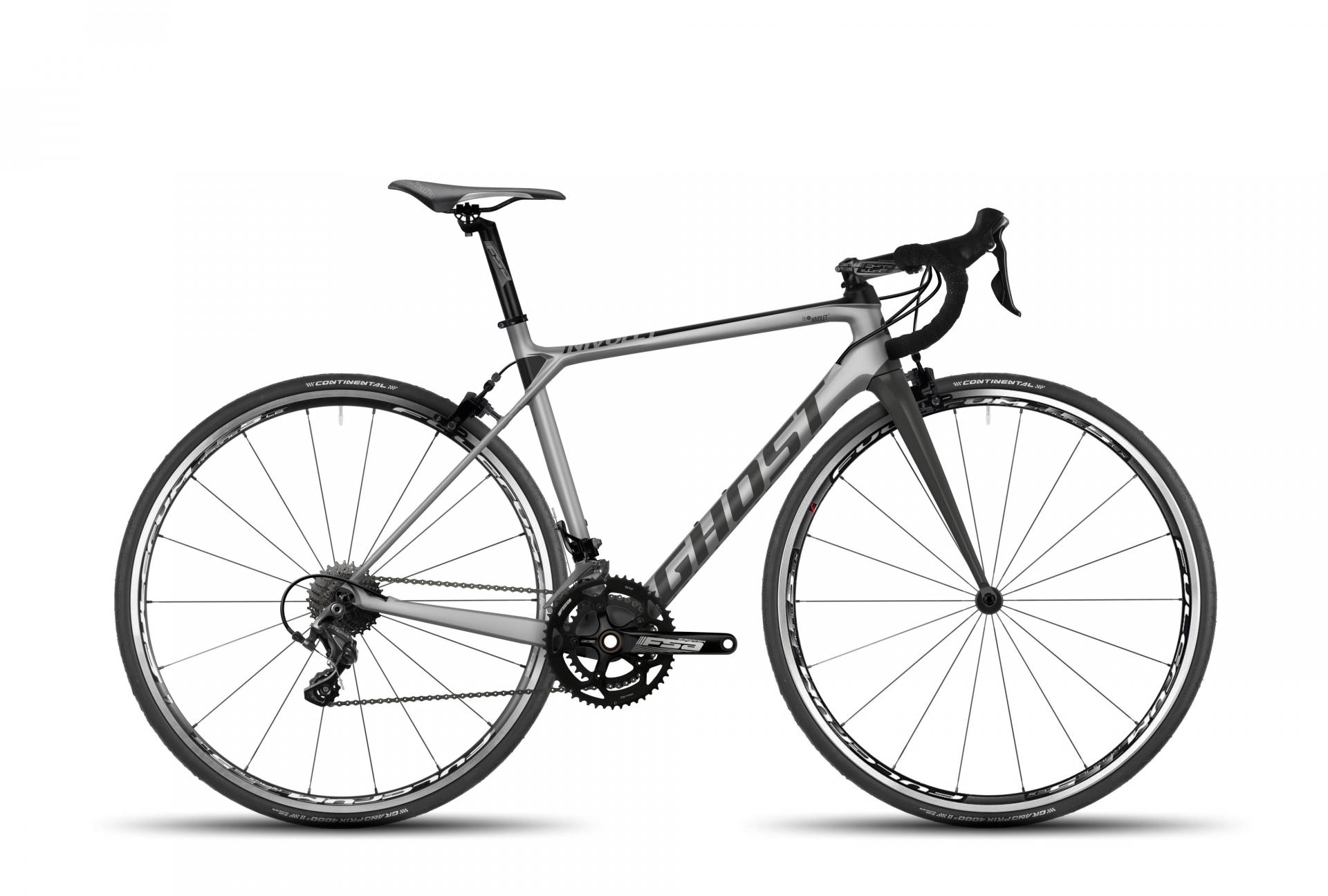 Vélo de route Ghost Nivolet 3 LC Argent/Titanium - XXS