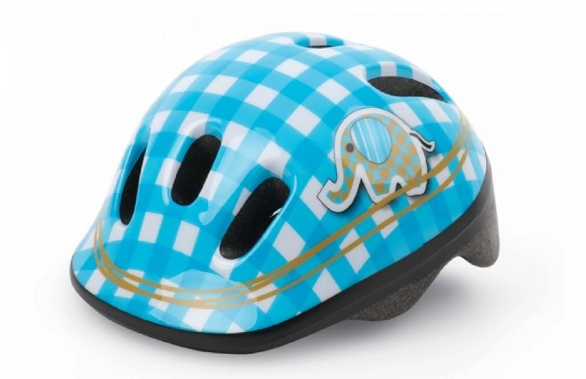 Casque vélo enfant Polisport XXS Bleu/Blanc Elephant