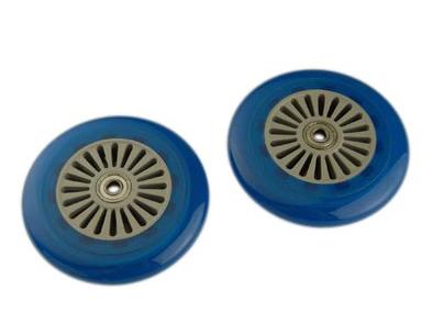 Roues de trottinette 120 mm Roulements Abec 5 (Paire) Bleu