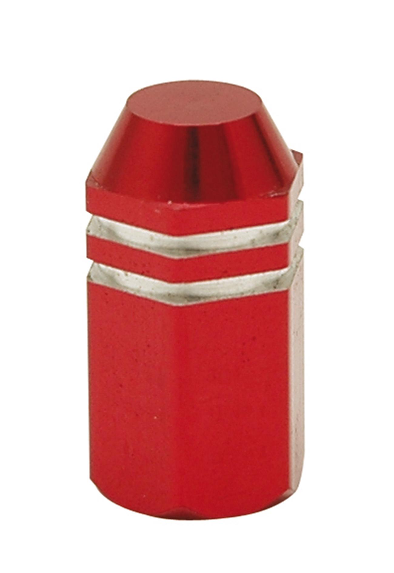 Bouchon de valve TrickTopz Hexagonal Long Rouge (x2)