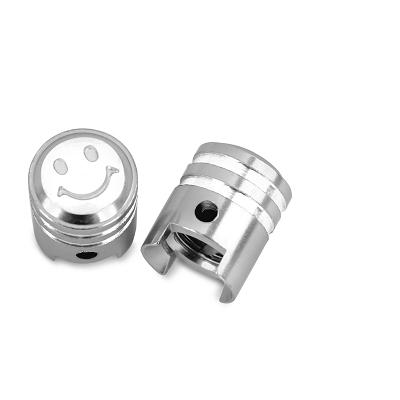Bouchon de valve WTP Schrader Piston Argent (Paire)