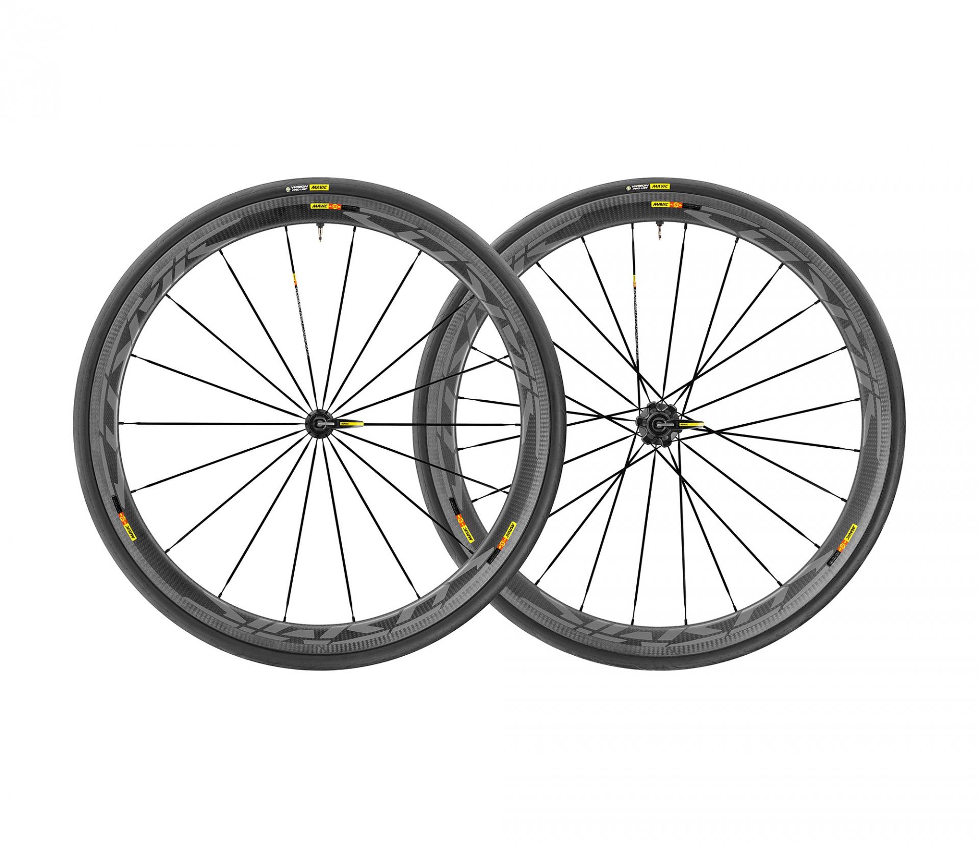 Paire de roues Mavic Cosmic Pro Carbon SL UST Shimano 11V Noir/Gris