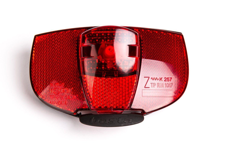 Éclairage arrière Basta Ray à LED fixation porte-bagages 80 mm