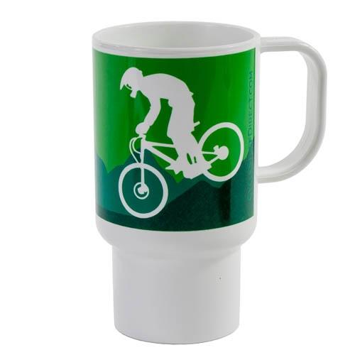 Mug de voyage Downhillers Design 312ml Vert