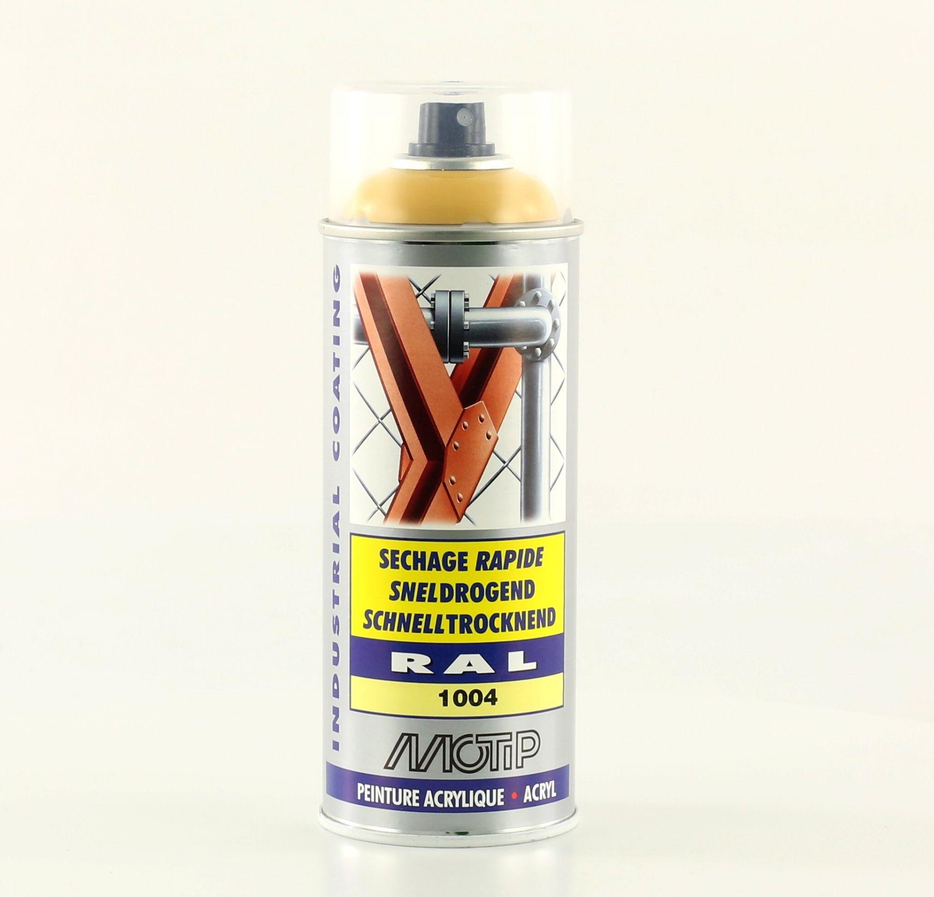Bombe de peinture jaune or brillant acrylique RAL 1004 400 ml M07072