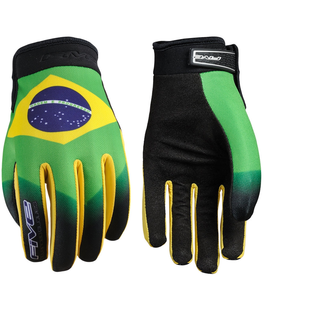 Gants Five Planet Patriot Brésil - S