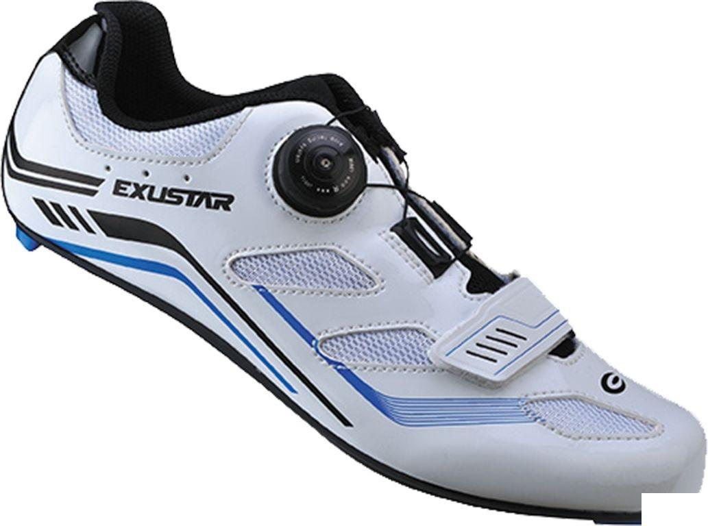 Chaussures route Exustar Comp E-SR4103 Blanc/Bleu - 38