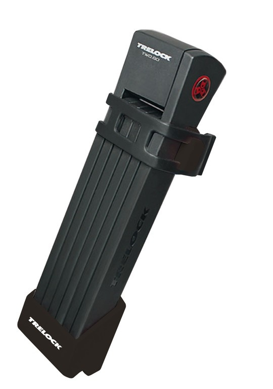 Antivol pliable Trelock TWO.GO L FS200/100 avec support Noir