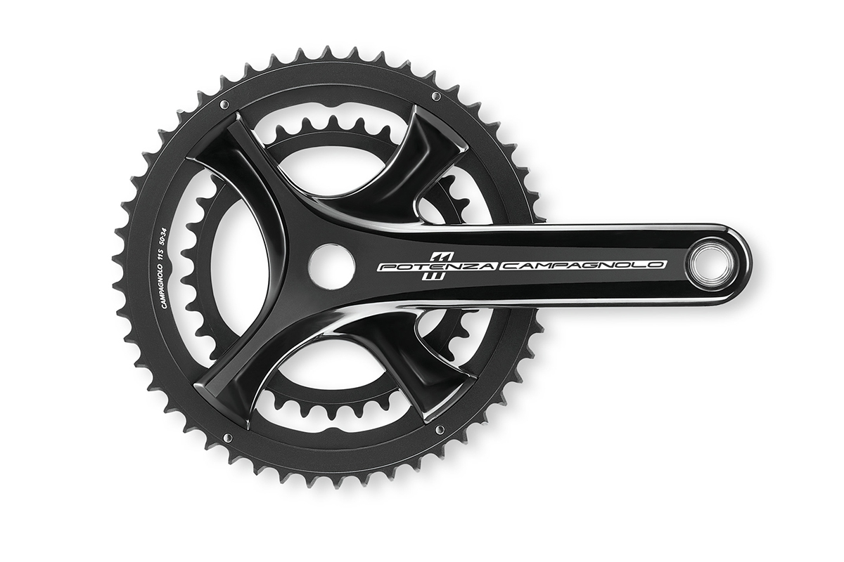 Pédalier Campagnolo Potenza 11V 170 mm Power Torque Compact 52/36 dents Noir