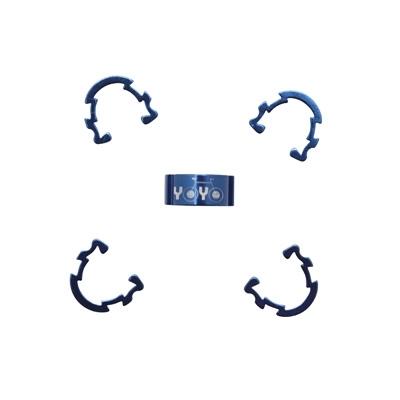 Clips de gaine durite YOYO alu (boîte de 5) Bleu