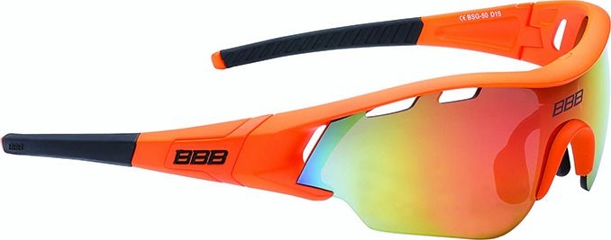Lunettes BBB Summit Orange mat, logo orange, verres orange 5016 - BSG-50