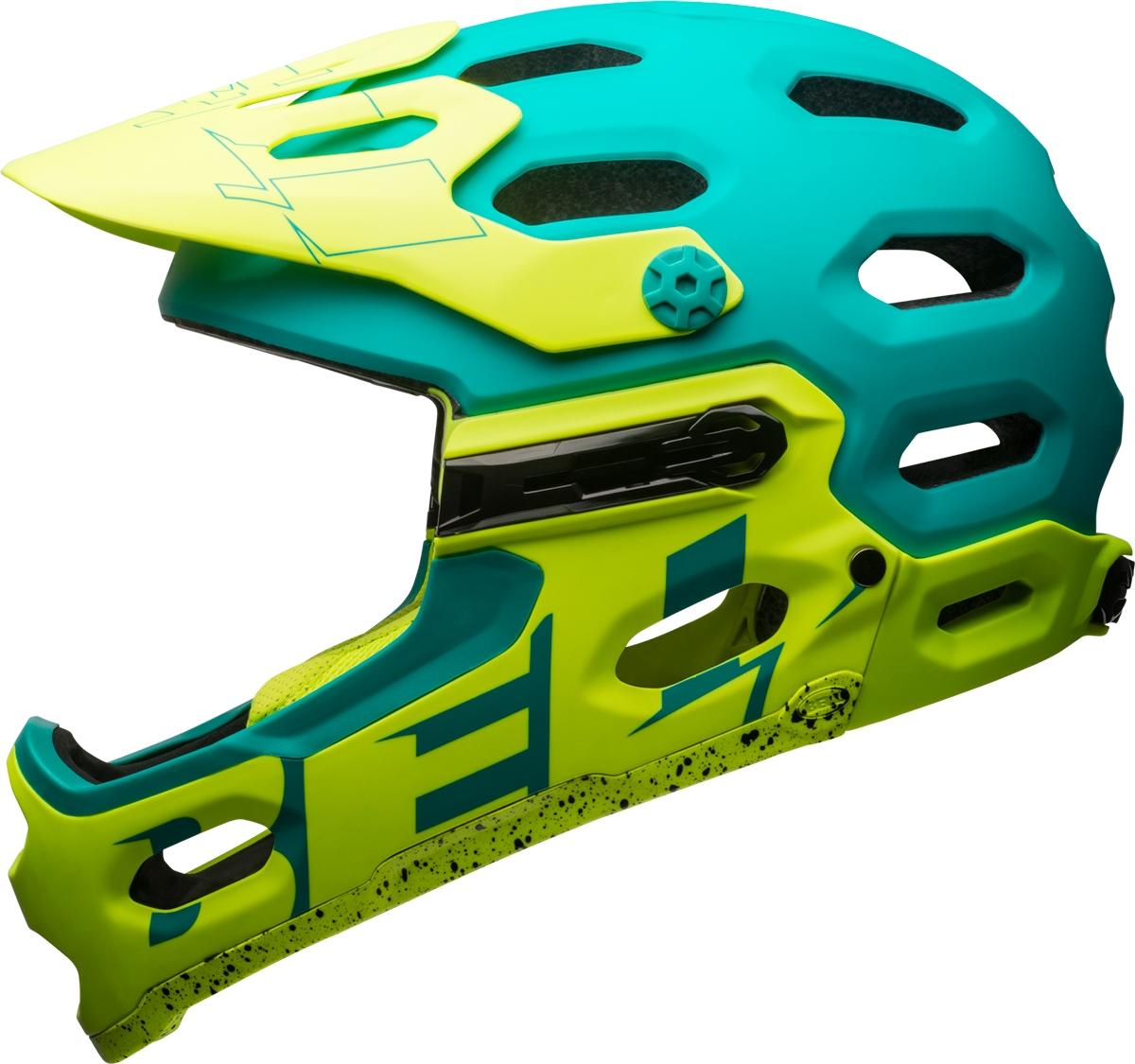 Casque Bell SUPER 3R Emerald mat/Retina Sear - M (55-59 cm)