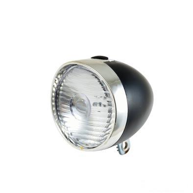 Éclairage AV 1 LED À pile Style rétro Fix. garde-boue Noir/Chrome