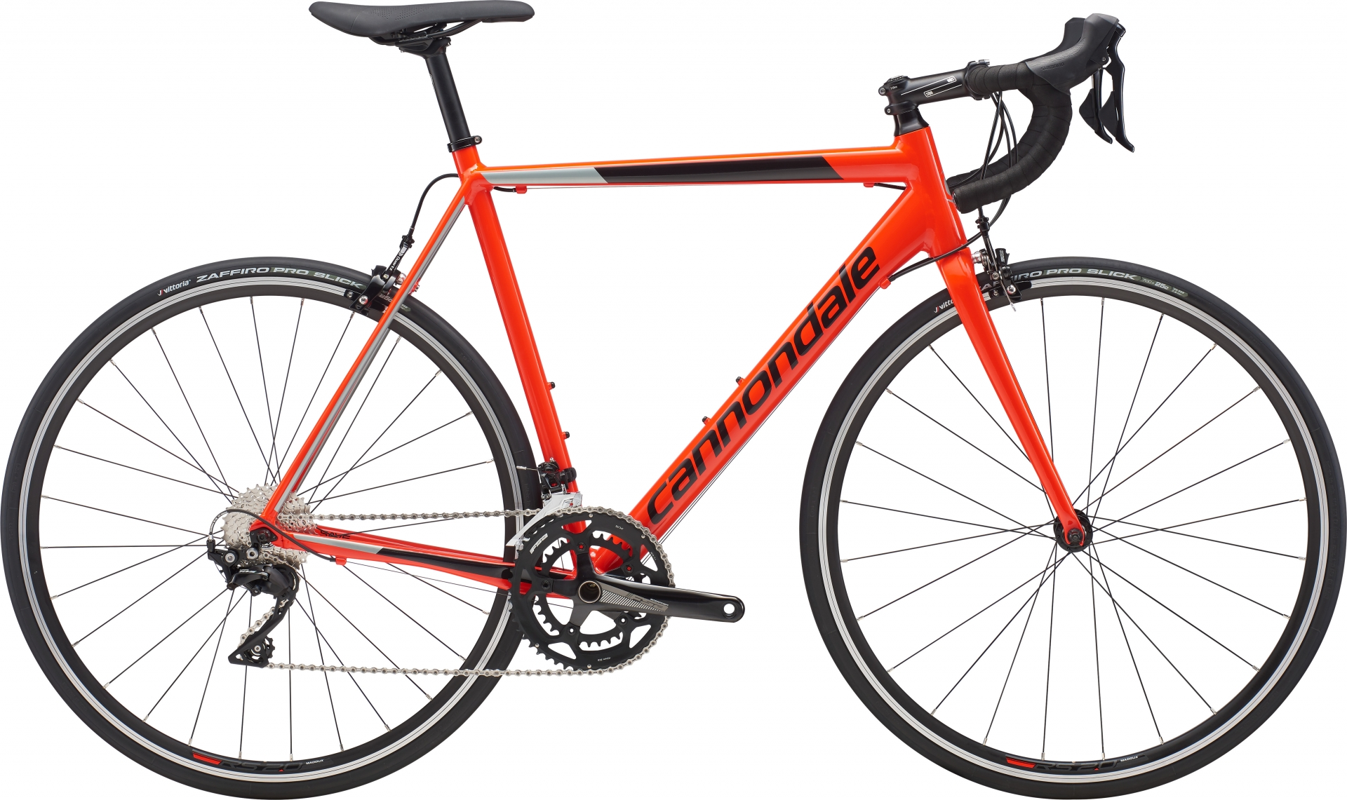 Vélo route Cannondale CAAD Optimo 105 Rouge Acid/Noir - 54 cm
